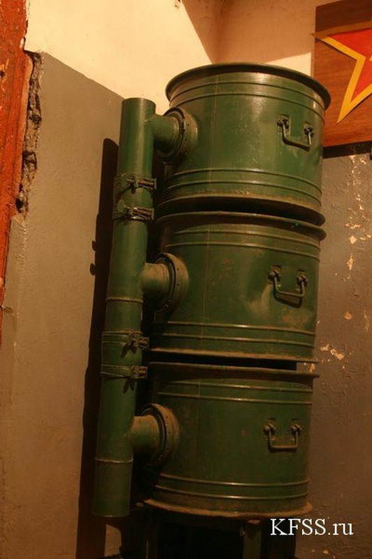 Фильтр-вентиляционная установка в музейной части Ворошиловской батареи на острове Русском