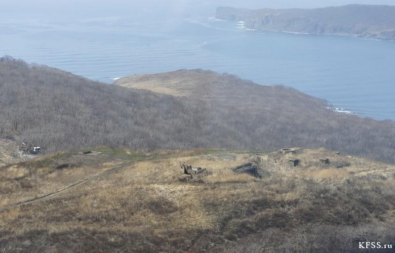 Общий вид на командный пункт Ворошиловской батареи