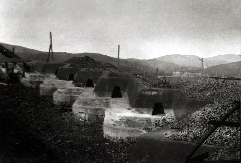 Стрелковый бруствер, Форт №1 Владивостокской крепости, расположенный близ Горностая, архивные кадры