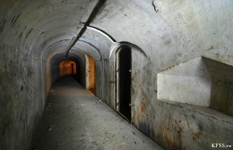Форт №12 Владивостокской крепости, подземная часть форта